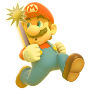 Mario with Star Staff