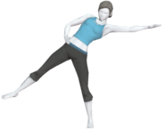 0.6.Female Wii Fit Trainer performing a Sideways Leg Lift