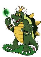 King Koopa with a Scepter