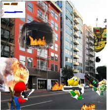 Mario War gameplay