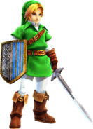 Adult Link (Hyrule Warriors) Hylians shield and Master Sword