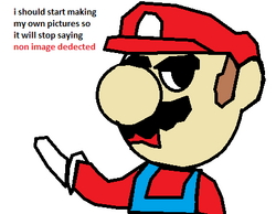 Mario start making pictures