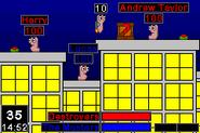 Worms Advance GBA screenshot 2