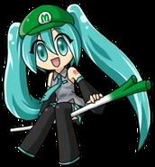 Luigi Hatsune Miku 1