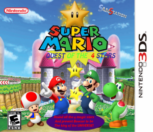 Super Mario- Quest of 4 Stars Cover Nintendo3DS