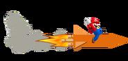 Mario on a Rocket