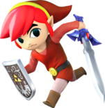 Toon link triforce hero red