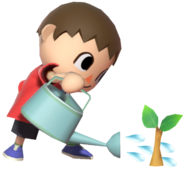 0.2.Red Villager watering a Sample