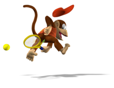 773px-Diddy Kong Artwork - Mario Power Tennis