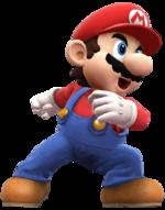 Mario fightning pose