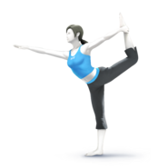 SSB4 Wii Fit Trainer Artwork