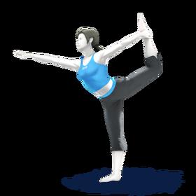 SSB4 Wii Fit Trainer Artwork