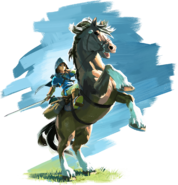 Link and Epona - The Legend of Zelda Breath of the Wild