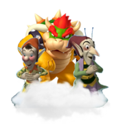 Bowser Sly and Gobbo in the cloud
