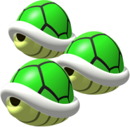 Triple Green Shells - Mario Kart DS