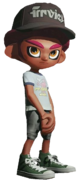Purple Afro Octoling Transparent