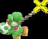 1.4.Green Yoshi aiming an Egg