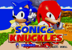 Sonic and knuckles title