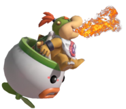 4.2. Bowser Jr sitting on his Clown Car