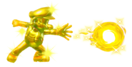 9.Golden Mario throwing a Golden Ball