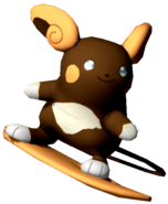 3.3.Shiny Alolan Raichu preparing to surf