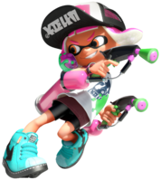 Inkling girl Splatoon 2 design DSSB