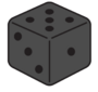 Masquerade dice shadow
