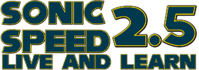 Sonic Speed 2.5 Live and Learn Logo