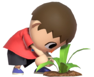 0.17.Red Villager Plucking a Weed