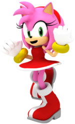 Amy rose render by matiprower-d9zm556