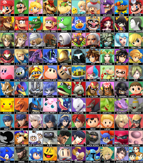 Super Smash Bros. Violet Sunset Roster (2)