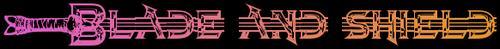 Blade and shield logo