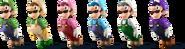 SSBRiot Luigi Color Palettes