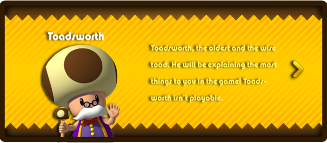 Super Mario & the Ludu Tree - Character Toadsworth