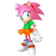 Amy rose classic outfit render by nibroc rock dcnm0pp-pre
