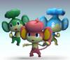 Monkey trio