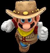 Cowboy mario render by nintega dario-dc2f2em