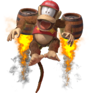 1.11.Diddy Kong taking flght