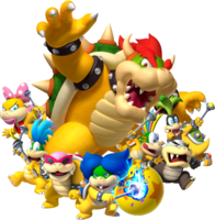 Bowser and Koopalings Artwork - Mario Party Diamond Blast