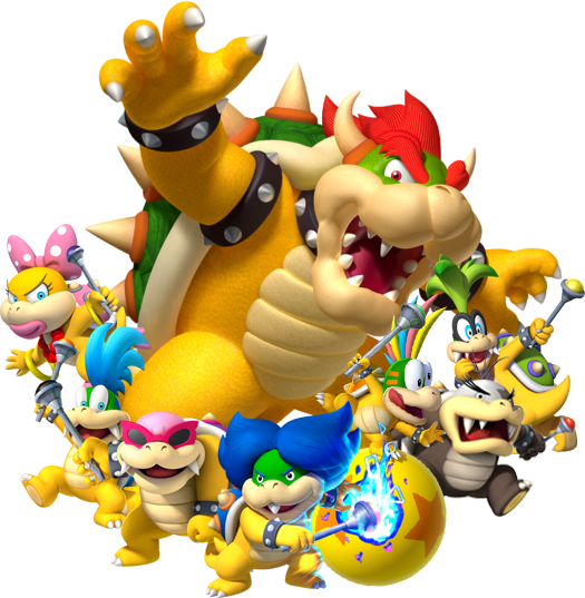 Bowser And Koopalings Artwork