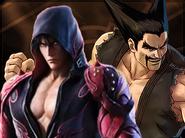 Jin and Heihachi