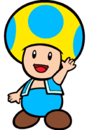 2D Ice Yellow Toad