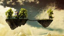 Bridge of floating lands