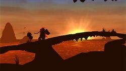 DKC returns silhouette