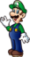 Luigi waving shaded