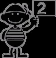 2.3.GnW Flagman Holding a 2 Flag
