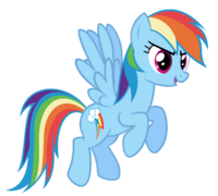 Rainbow dash flying