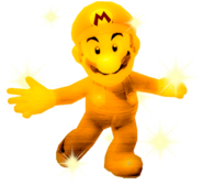 Sparkly Golden Mario