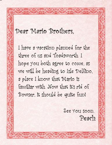 Peach's Letter