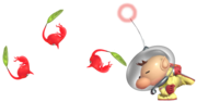 0.7.Olimar Throwing Pikmin